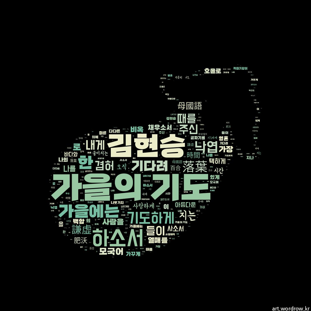 워드 클라우드: 가을의 기도 [김현승]-48